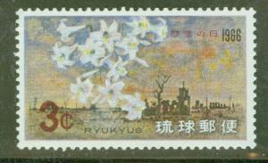 RYUKYU Scott 144 MNH** Lilies Flower stamp 1966