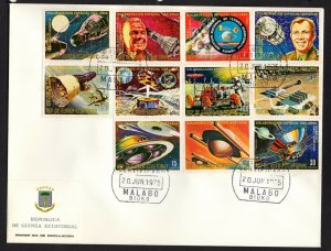 Equatorial Guinea  #75110-20 (1975 Apollo-Soyuz Space set) VF used on FDC