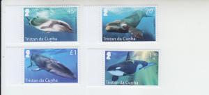 2019 Tristan da Cunha Whales (4) (Scott NA) MNH