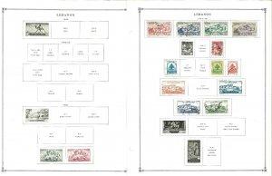 Lebanon 1947-1972 M & U Hinged on Scott International Pages