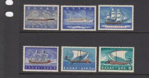 Greece 618-23 Merchant Marine Ships mint
