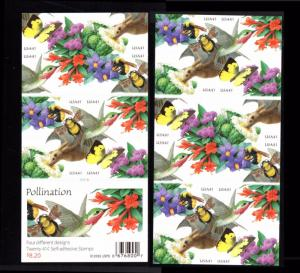 2006 Pollination  2 Sided Booklet 41¢  #4153 - 4156 4156d MNH Humming Birds Bees