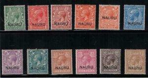 Nauru 1916-1923 SC 1-12,4c Set