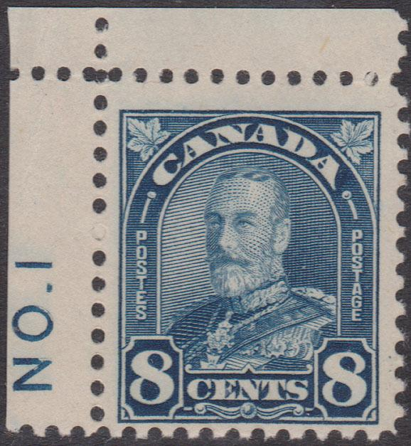 Canada - 1930 8c Blue Plate 1 Single mint #171