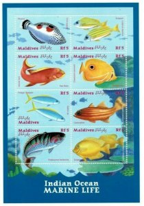Maldives MNH S/S Marine Life Fish