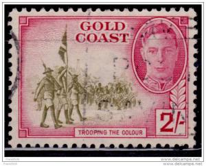 Gold Coast 1948, KGVI Trooping the Colors, 2sh, sc#139, used