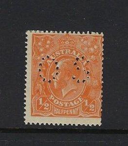 AUSTRALIA SCOTT #OB20 1914-24 OFFICIAL -MINT NEVER  HINGED