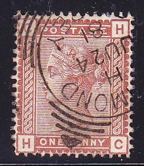 Great Britain 1880 1d red brown QV VF/Used (o)