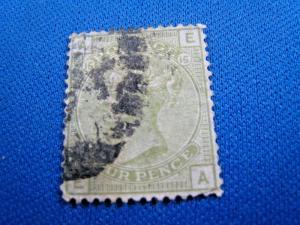 GREAT BRITAIN  -  SCOTT #70  -  Used      (brig)