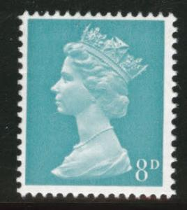 Great Britain Scott MH12 MNH** 1967 Machin Greenish Blue