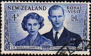 New Zealand. 1953 4d S.G.722 Fine Used