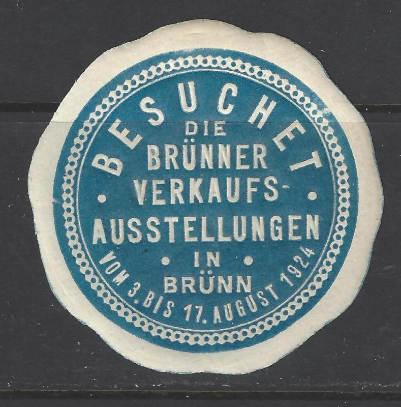 1924 Germany, Brunn Ausstellungen Fair Promotional Poster Stamp (AW57)
