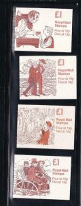 GB BK # 410-412 VF-MNH 4 DIFFERENT COVERS BOOKLETS PO FRESH CAT VALUE $44+