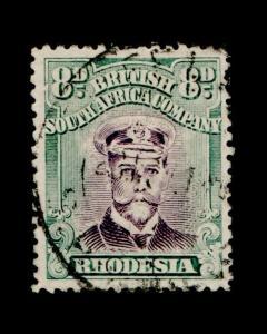 VINTAGE: RHODESIA 1913 USED LH SCOTT #128 $82.50 LOT #9265