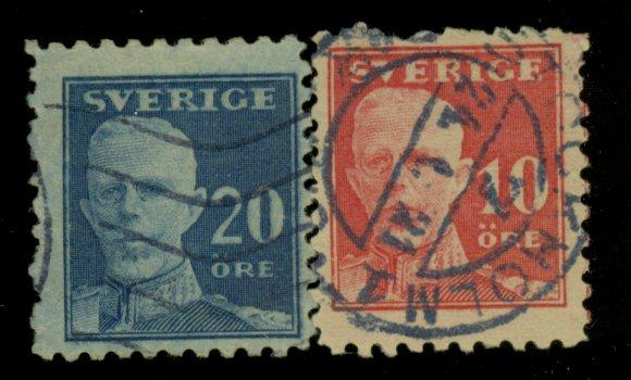 Sweden #142-3 Used F-VF Cat$17