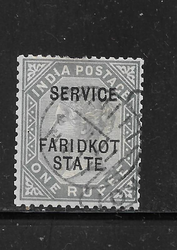 11887-98 FARIDKOT, SG014 CAT £425 FINE USED,QV, 1 RUPEE,INDIA,INDIAN STATES,RARE