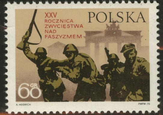 Poland Scott 1736 MNH** 1970 Polish and Russian soldiers
