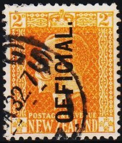 New Zealand. 1915 2d(Official) S.G.O98  Fine Used
