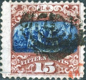 #119 VF USED W/ RED & BLACK CANCEL WITH WIDE MARGINS CV $400.00 BN7492