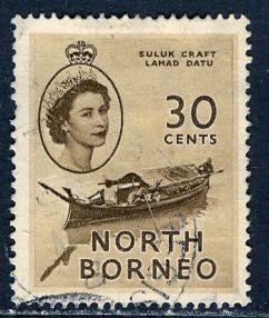 North Borneo 1954: Sc. # 270; O/Used Single Stamp
