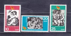 Germany DDR 2260-2262 Set MNH Art, Paintings