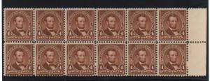 USA #280 NH Mint Fresh Block Of 12
