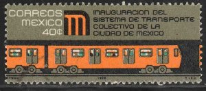 MEXICO 1005, Inauguration of Mexico City Subway. Used.-VF. (174)