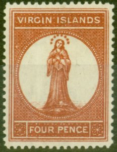 Virgin Islands 1887 4d Chestnut SG35 V.F MNH