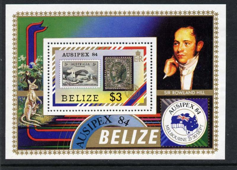 Belize 731 MNH Stamp on Stamp, Ausipex 84, Bridge, Kangaroo