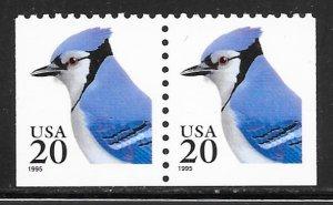 USA 2483: 20c Blue Jay, pair, MNH, VF