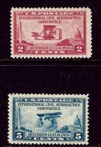 U.S. 649-50 MNH 1928 set    (ap4279)