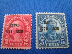 UNITED STATES, 1928  -  SCOTT # 647-648  MLH  (#2)