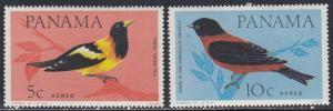Panama # C337-338, Song Birds, LH, Third Cat