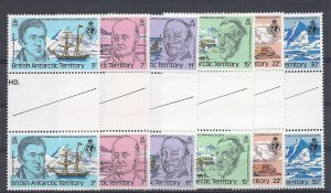 British Antarctic Territory (B.A.T,), 76-81, Geographic Society Gutter Prs,  MNH