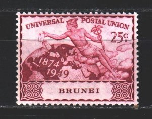 Brunei. 1949. 76 in a series. 75 years UPU. MLH.