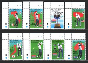 Gambia. 1992. 1444-51. Cricket sports. MNH.