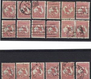Australia 2 Used Lot of 18 (See Desc); SCV $31.50 ($1.75ea)
