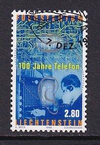 Liechtenstein   #1135   cancelled   1999  telephone 100 years