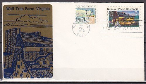 United States, Scott cat. 1452. Wolf Trap Farm Theater. First day cover. ^