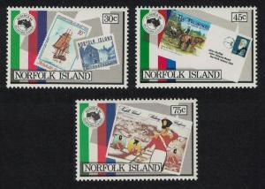 Norfolk 'Ausipex' International Stamp Exhibition Melbourne 3v SG#343-345