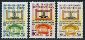 Iraq 771-773,MNH.Michel 854-856. 1st telephone call by Alexande Bell,100,1976.