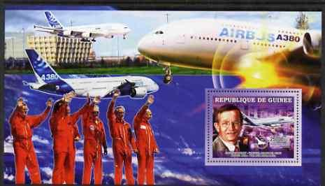 GUINEA GUINEE SHEET MNH AVIATION SPACE COSMONAUTS