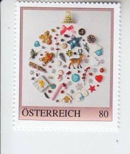 2019 Austria Christmas Ornaments (Scott NA) MNH