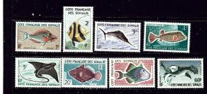 Somali Coast 275-82 MNH 1959 Fish