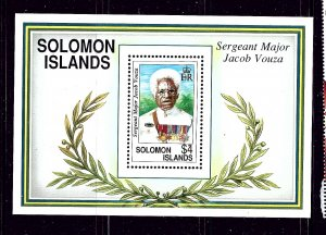 Solomon is 722 MNH 1992 Sgt Major Jacob Vouza S/S