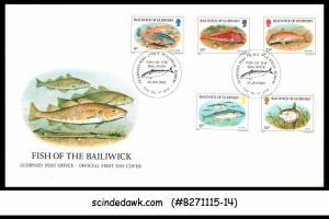 GUERNSEY - 1985 FISH OF BAILIWICK - 5V - FDC
