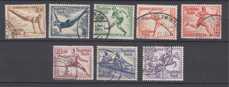 J28714, 1936 nazi germany set used #b82-9 sports