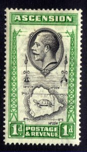 Ascension Island 1934 KGV 1d Black & Green MM SG 22 ( R617 )