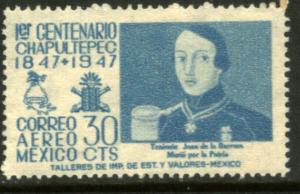 MEXICO C181, 30c 1847 Battles Centennial. MINT, NH. VF.