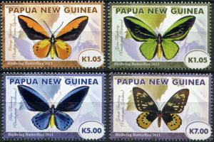Papua New Guinea. 2011. Birdwing Butterfly - Queen Alexandra (MNH OG) Set
